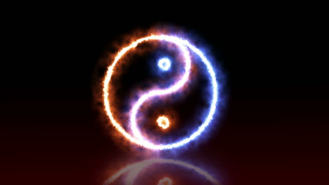 vídeos de stock, filmes e b-roll de yin yang fundo - símbolo