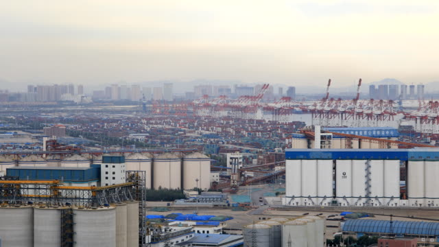 yingkou port, liaoning province, china - entladen stock-videos und b-roll-filmmaterial