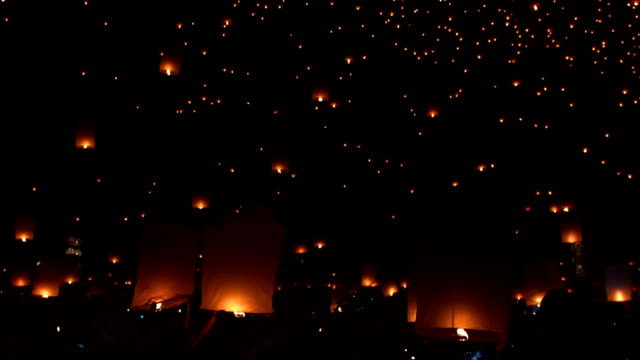 yipeng festival - paper lantern stock videos and b-roll footage