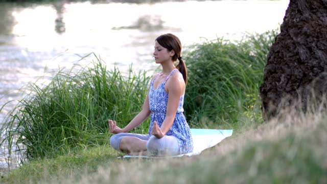 yoga and meditation - zen like stock videos & royalty-free footage
