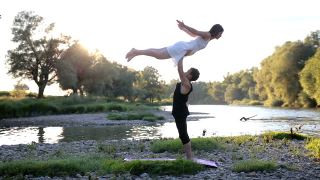 yoga as a way of living - white dress stock videos & royalty-free footage