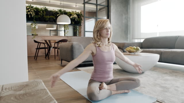 yoga at home - trainer stock videos & royalty-free footage