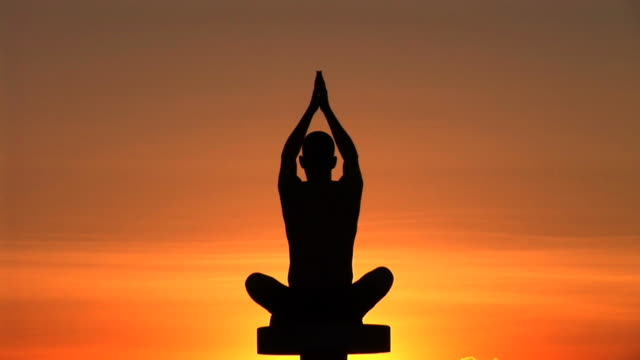 HD: Yoga At The Sunset