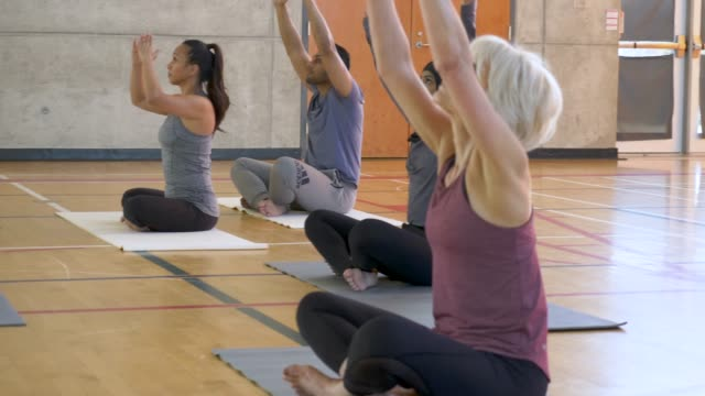yoga class - zen like stock videos & royalty-free footage