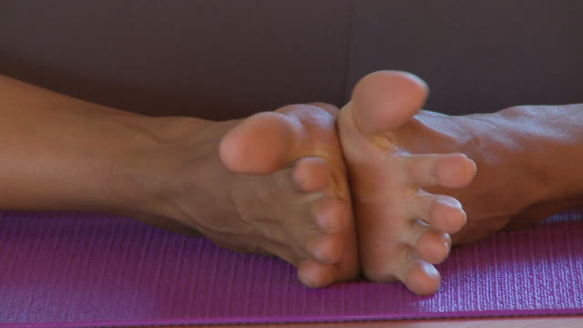 yoga class - human toe stock videos and b-roll footage