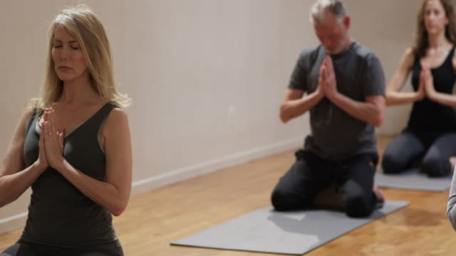 Yoga Class With Healthy Retired Seniors And Older Adults In A Studio High Res Stock Video Footage Getty Images