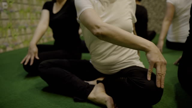 vídeos de stock, filmes e b-roll de rolo da classe-b da ioga - arte, cultura e espetáculo