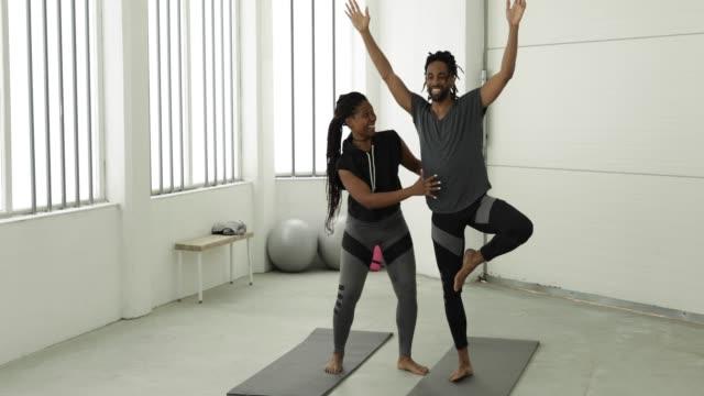 yoga couple - flexibility stock videos & royalty-free footage