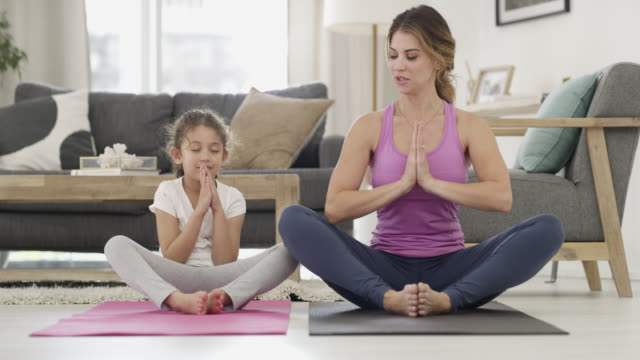 yoga is for all ages - tickling stock videos & royalty-free footage