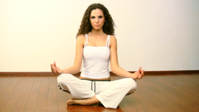 yoga lotus position - lotus position stock videos & royalty-free footage