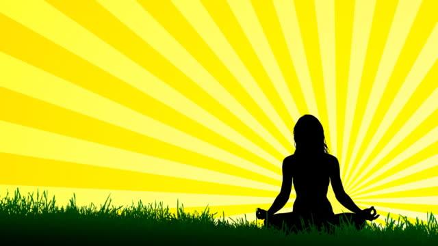 hd: yoga lotus position - illustration stock videos & royalty-free footage