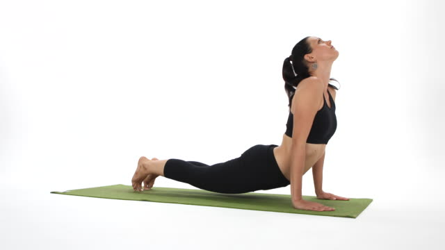 yoga postures - asanas - prayer pose yoga stock videos & royalty-free footage