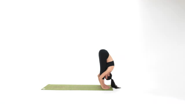 yoga postures - asanas - mountain pose stock videos and b-roll footage