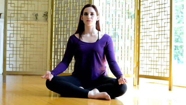 yoga teacher - bay window stock videos & royalty-free footage
