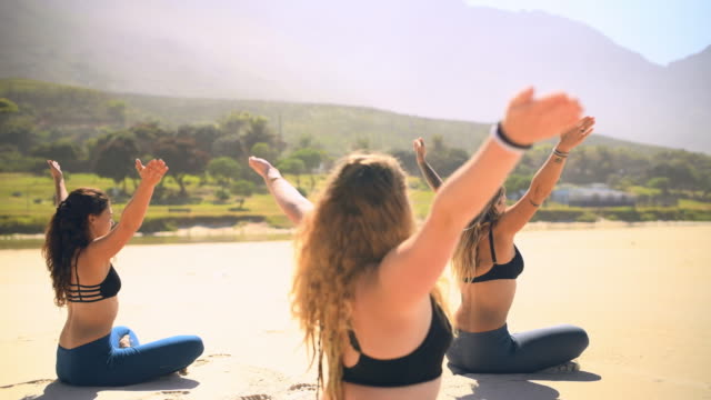 yoga teaches you how to listen to your body - concentration stock videos & royalty-free footage