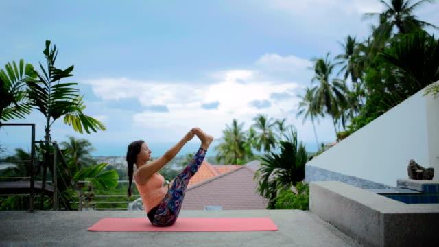yoga - sports training drill stock videos & royalty-free footage