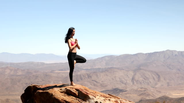 Yoga Woman on Mountaintop
