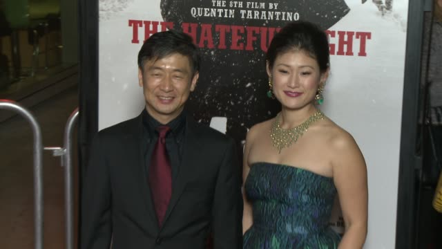 """yohei taneda at """"the hateful eight"""" world premiere at arclight cinemas on december 07, 2015 in hollywood, california. - arclight cinemas hollywood stock-videos und b-roll-filmmaterial"""
