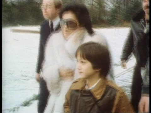 Yoko Ono and son Sean Lennon visit John Lennon's birthplace Liverpool five years after his death