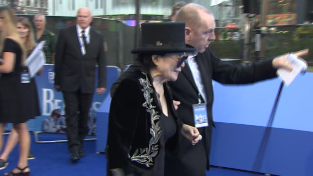 Yoko Ono arriving at the premiere of the Beatles film 'Eight Days a Week'