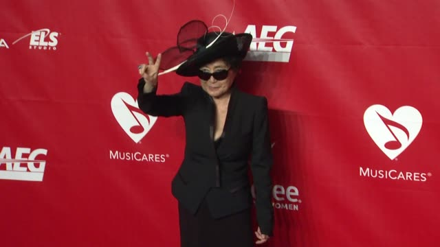 Yoko Ono at 2014 MusiCares Person of The Year Honoring Carole King at Los Angeles Convention Center on in Los Angeles California