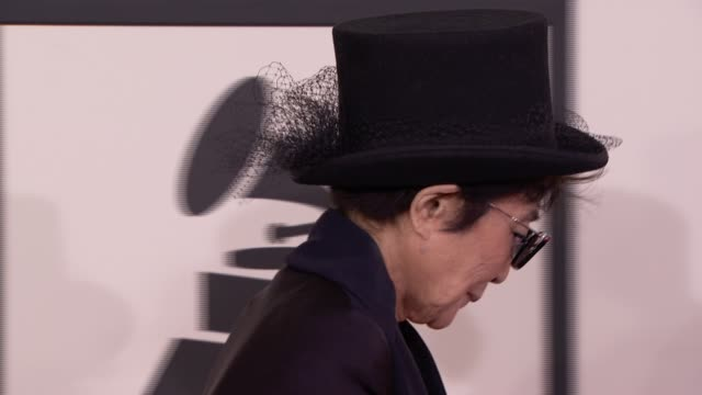 Yoko Ono at 56th Annual Grammy Awards Arrivals at Staples Center on in Los Angeles California