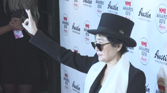 Yoko Ono at NME Awards at O2 Academy Brixton on February 17 2016 in London England