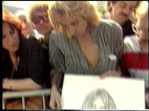 Yoko Ono at the Dedication of John Lennon's Hollywood Walk of Fame Star at Vine Street in Hollywood California on March 30 1988