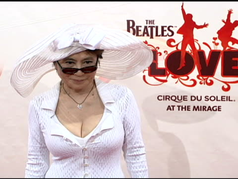 Yoko Ono at the 'LOVE' Cirque du Soleil Celebratation of the Musical Legacy of The Beatles at the Mirage Hotel And Casino in Las Vegas Nevada on June...