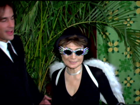 yoko ono at the nyrp celebration of 10th anniversary and bette midler's 60th birthday with 'hulaween' gala at the waldorf astoria in new york, new... - waldorf astoria new york stock videos & royalty-free footage