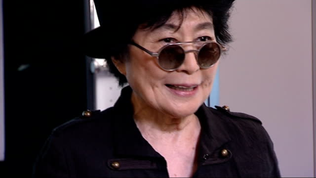 Yoko Ono curates 'Meltdown' festival Yoko Ono interview ENGLAND London Southbank EXT Various of 'The John Lennon Educational tour bus' Blue bus with...
