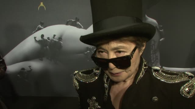 Yoko Ono on being a big Lady Gaga fan and loving her activism work at Lady Gaga Fame Eau De Parfum Launch Event at Solomon R Guggenheim Museum on...