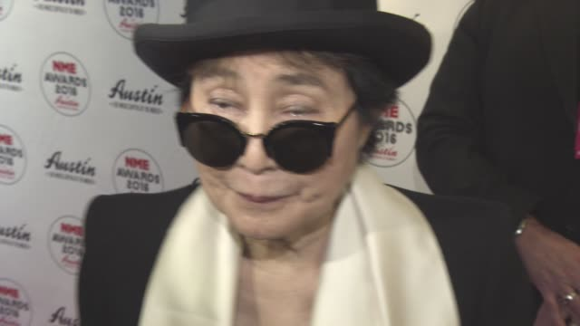 INTERVIEW Yoko Ono on David Bowie's Death 35 years after losing John Lennon at NME Awards at O2 Academy Brixton on February 17 2016 in London England