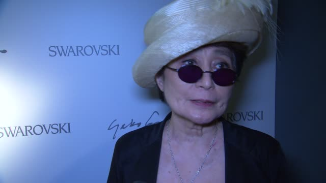 Yoko Ono on the 'power' of the keys at Swarovski Celebrates The Launch Of Its Collaboration With Yoko Ono At The Swarovski Crystallized Concept Store...