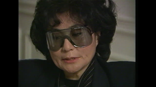 yoko ono talks about criticism of keeping the 'eternal flame' of john lennon alive - john lennon stock videos & royalty-free footage