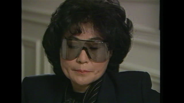 yoko ono talks about receiving fan letters saying 'they still miss john very muchand they feel they want to communicate their feelings to me' - love emotion stock videos & royalty-free footage