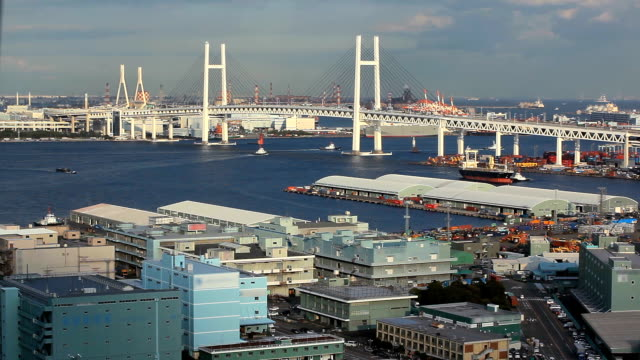 yokohama bay bridge - yokohama stock videos and b-roll footage