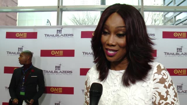 yolanda adams on her thoughts about marvin sapp as bmi is honoring him tonight at bmi trailblazers of gospel music at rialto center for the arts on... - gospel music stock videos & royalty-free footage