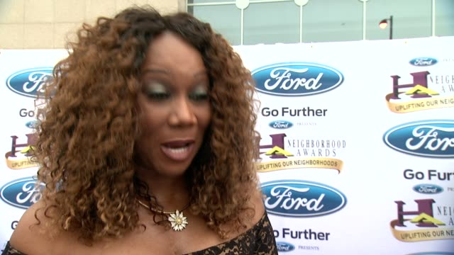 INTERVIEW Yolanda Adams on what the awards show is about on what she loves about the show at 2014 Ford Neighborhood Awards Hosted By Steve Harvey at...