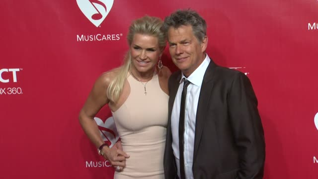 Yolanda Hadid and David Foster at 22nd Annual MusiCares Benefit Gala Honoring Sir Paul McCartney on 2/10/2012 in Los Angeles CA