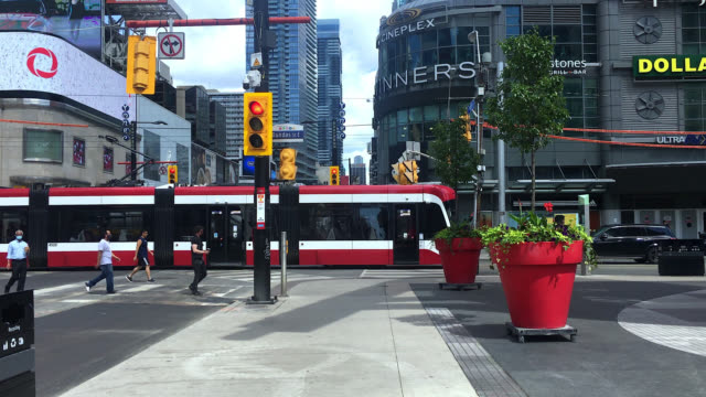 yonge-dundas square in toronto, canada - toronto stock videos & royalty-free footage