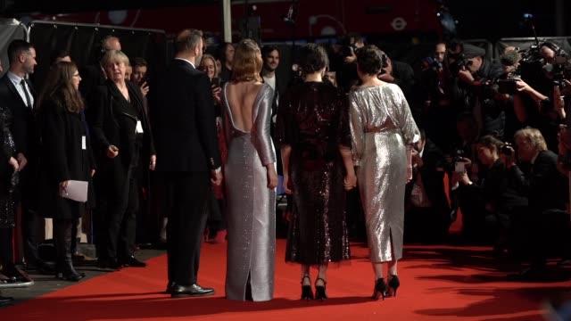 slomo yorgos lanthimos emma stone rachel weisz olivia colman at 'the favourite' uk premiere 62nd bfi london film festival on october 18 2018 in... - rachel weisz stock videos & royalty-free footage