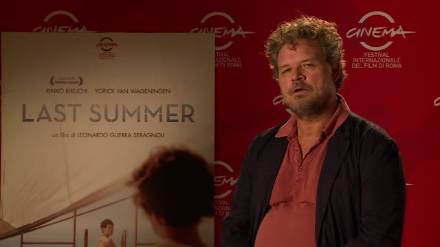 yorick van wageningen on filming on a boat and working with the director at 'last summer' interviews - the 9th rome film festival at auditorium parco... - last stock videos & royalty-free footage