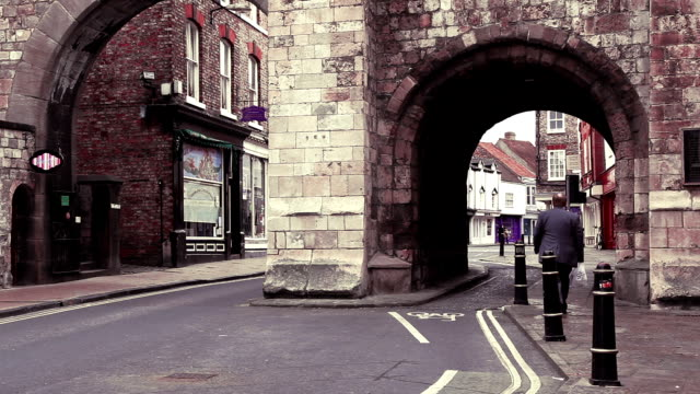 york city walls - yorkshire england stock videos & royalty-free footage