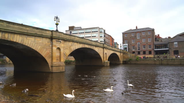 york city with river ouse in york ,uk - town stock videos & royalty-free footage
