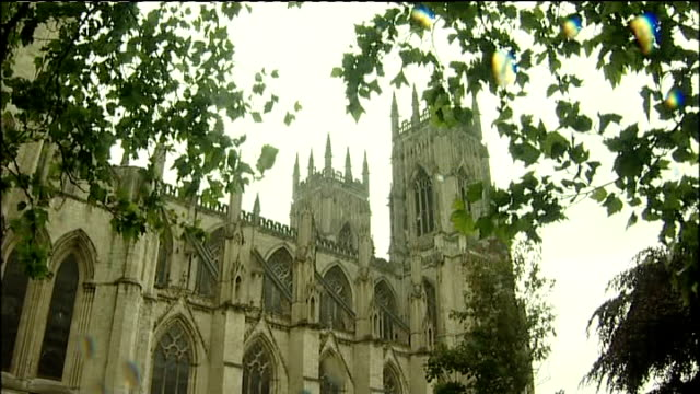 general view of york minster int stained glass window in minster university of york: speeded up shot time lapse delegates at general synod taking... - synod stock videos & royalty-free footage