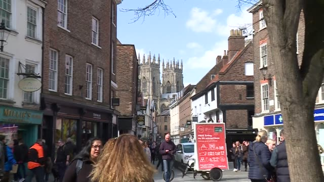 York street scenes with York Cathedral in background