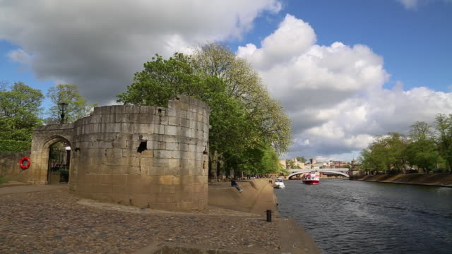 york, view of the river ouse in the city - river ouse stock videos & royalty-free footage