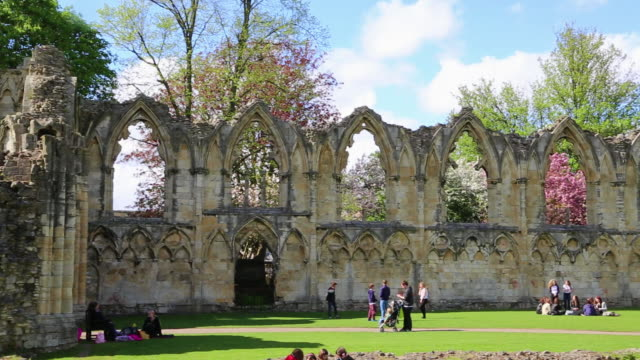 York, view of the ruined Benedictine Abbey of Saint Mary