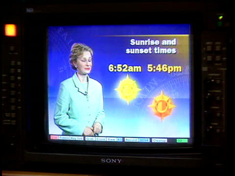 Yorks MS Debbie weather forecast broadcast on BV Debbie MS Her boyfriend sitting at controls with woman beside